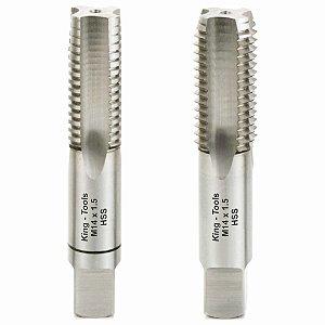 Jogo de Macho M 14 X 1,0 Manual Aço Rápido (HSS) - King Tools