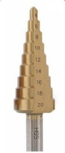 Broca Escalonada Aço Rápido 4 A 20mm - Strong