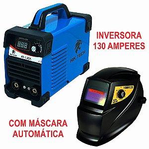 Inversora de 130A com Máscara de Solda Automática