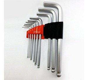 Jogo Chave Allen Abaulada 1,5 a 10mm 9 peças - STRONG