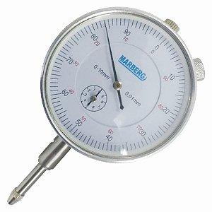 Relógio Comparador de 0 A 10mm com Fixador - Marberg