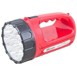 Lanterna Recarregável 15LEDS c/ alça - WESTERN