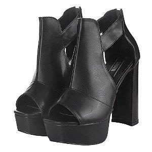 Ankle Boot Louth Fechada Preta