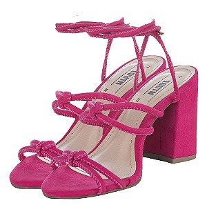 Sandália Louth Tiras Amarração Pink