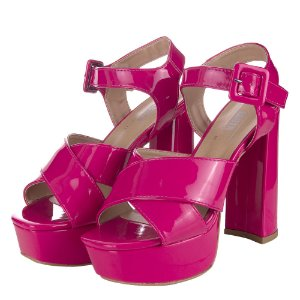 Meia Pata Louth Tiras Transversais Pink
