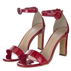 Sandália Louth Clássica Salto Quadrado Vermelha