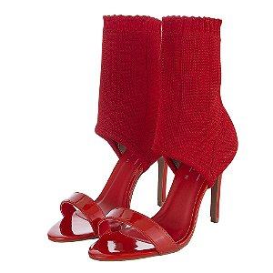 Sandália Louth Meia Vermelha