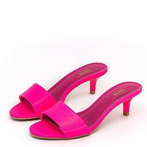Tamanco Louth Salto Fino Neon Pink