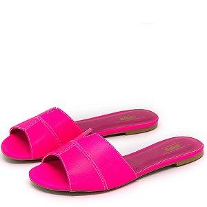 Rasteirinha Louth Tira Neon Pink