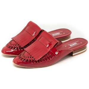 Mule Louth Recortes Vermelho