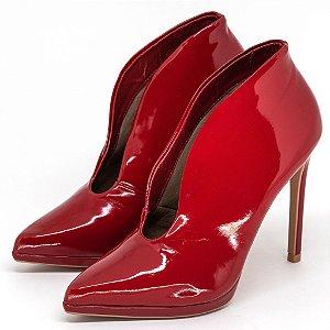 Ankle Boot Louth Bico Fino Vermelho