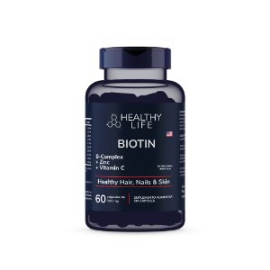 Healthy Life - Biotin - Healthy Hair, Nails & Skin 500mg (60 comprimidos)