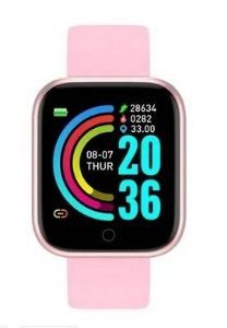 Relogio Inteligente Smartwatch D20 Bluetooth Rosa