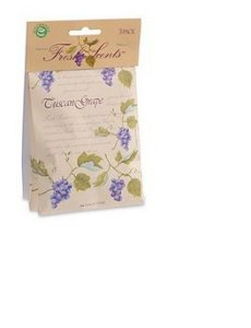 Aromatizador  - Fresh Scents Tuscan Grape Sachet 3-Pack