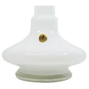 Vaso Shisha Glass Aladin -  Branco Sólido