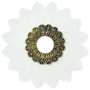 Prato Alusi Mantra - Dourado e Branco