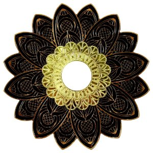 Prato Alusi Mantra - Dourado e Bronze