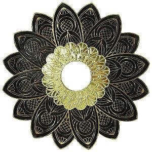 Prato Alusi Mantra - Dourado e Dourado Envelhecido