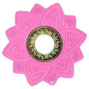 Prato SCA Hookah - Dourado Com Rosa