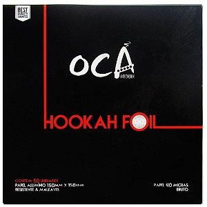 Papel Alumínio Oca Hookah - 50 Unidades
