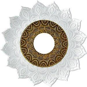 Prato JN Hookah Artemis OUTLET - Branco /  Dourado