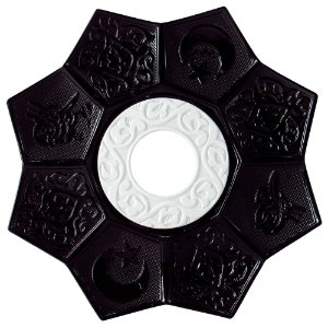 Prato EBS Lotus - Branco / Preto