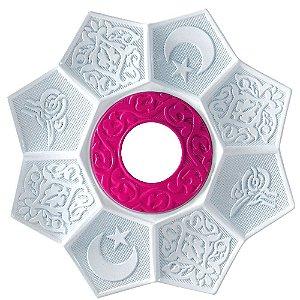 Prato EBS Lotus - Branco / Rosa