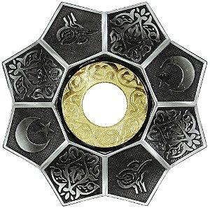 Prato EBS Lotus - Prata / Dourado