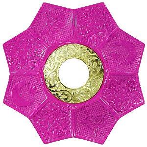 Prato EBS Lotus - Rosa / Dourado