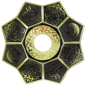 Prato EBS Lotus - Dourado Envelhecido / Dourado