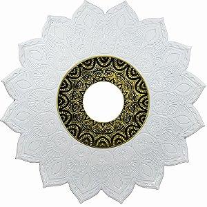 Prato JN Hookah Persia - Branco / Dourado