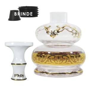 Kit Rosh Seven+Vaso Bless Dome- Branco-Transparente