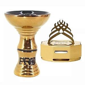 Rosh Pro Hookah Ultra Gold + Marajah Octagon Dourado