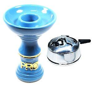 Rosh Pro Hookah Azul-Dourado + Kaloud Black Hookah