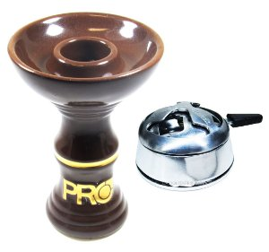 Rosh Pro Hookah Marrom/Dourado + Kaloud Black Hookah