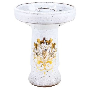 ROSH BETA BOWL - GOLD BRANCO - FLOR DE LOTUS
