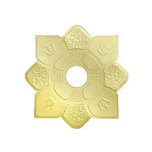 Prato Hookah King Mini Imperial - Dourado