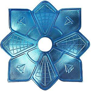 Prato Diamond Azul Pequeno