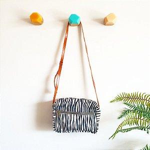 Bolsa Grajaú Zebra Pelo com Caramelo