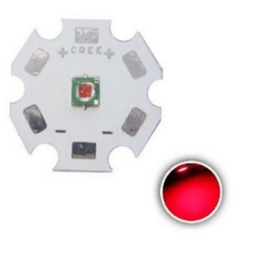 Led Cree Xp-e 3w Photo Red 660nm Vermelho Supe