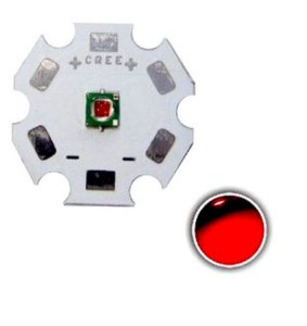 Led Cree Xp-e 3w Far Red 720nm Vermelho Deep
