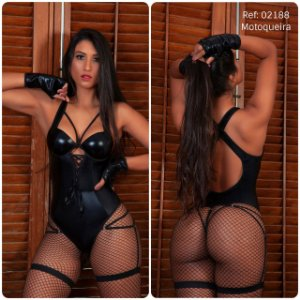 Fantasia Sexy Motoqueira com body luvas e ligas