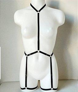 Body de cinta-liga regulável sexy, tamanho único