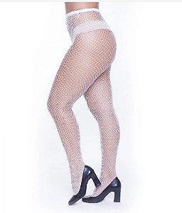 Meia Calça Arrastão Branca - Tamanho Único