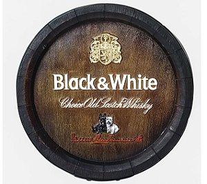 Barril de parede grande em Fibra KG - Decoração - Black & White Whisky