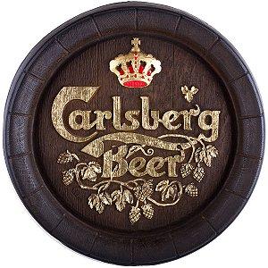 Barril de parede grande em Fibra KG - Decoração - Carslberg Rústico Cerveja