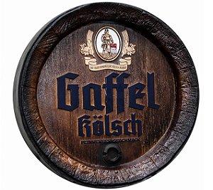 Barril de parede grande em Fibra KG - Decoração - Gaffel Cerveja