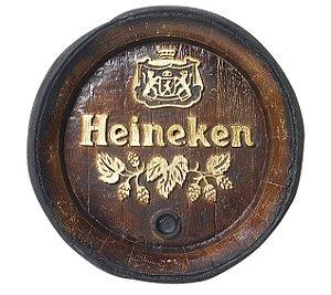 Barril de parede grande em Fibra KG - Decoração - Heineken Cerveja
