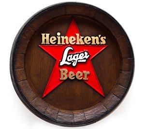 Barril de parede grande em Fibra KG - Decoração - Heineken Estrela Cerveja