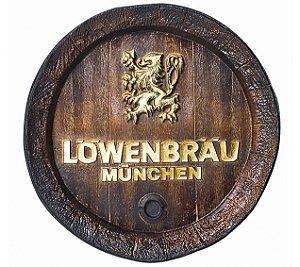 Barril de parede grande em Fibra KG - Decoração - Löwenbräu Cerveja